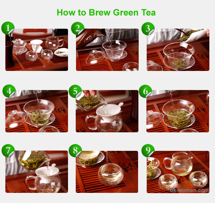 How to make green tea. How to make tea. how to brew green tea