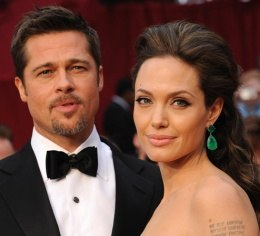 Brad Pitt and his wife