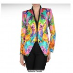 Women's jacket flower  floral print