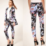 suit costume floral print dress 2012