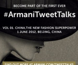 FASHION HOUSE ARMANI OPENS SERIES OF DISCUSSIONS IN TWITTER