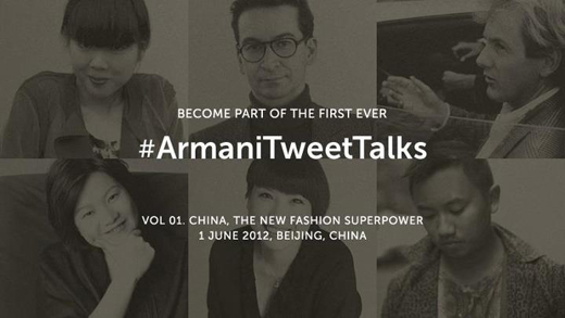 # ArmaniTweetTalks kicks off this Friday, June 1, 2012.