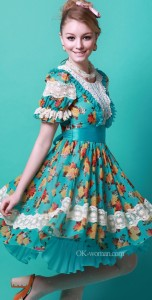 Romantic feminine style. Vintage clothing, Retro clothing