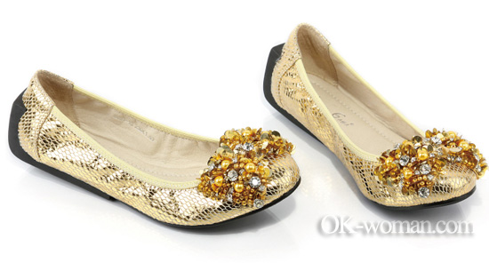 Gold ballet flats. Ballet flats for women. Shoes 2012 women. Spring summer