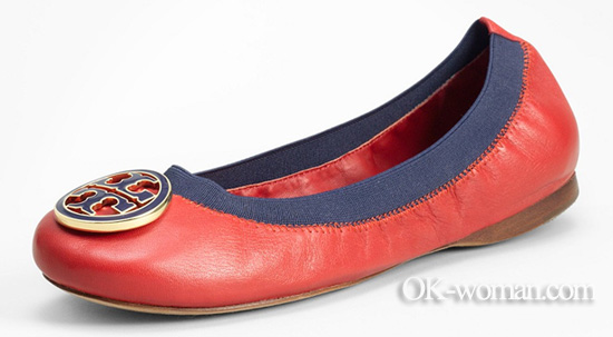 Tory burch leather ballet flat. Ballet flats for women. Shoes 2012 women. Spring summer