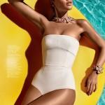 Stunning model Doutzen Kroes in bikini for Vogue China