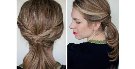 Stylish cute ponytails