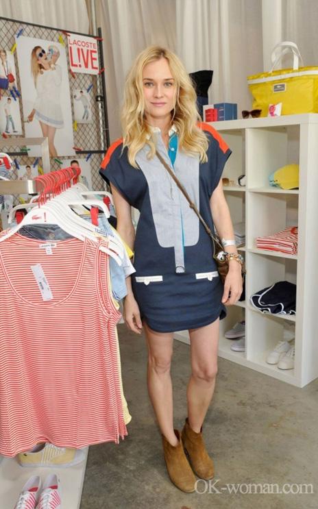 Street fashion. Diane Kruger
