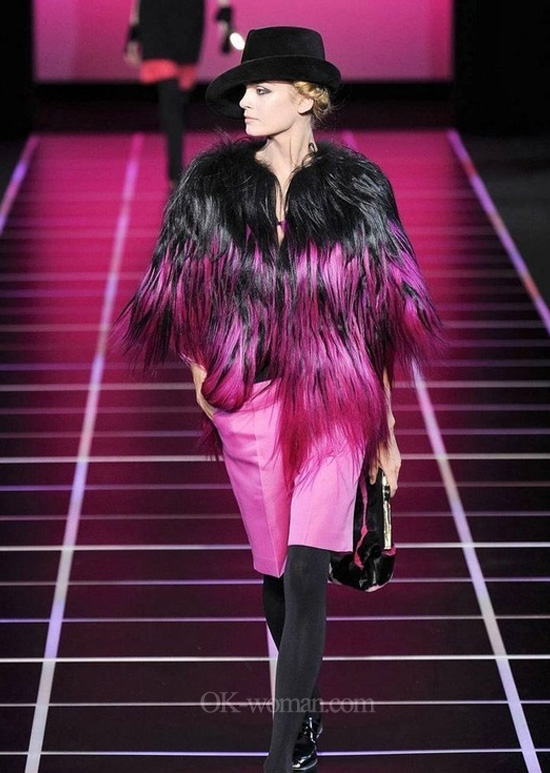 Women Fur Coat Fur Jacket. Giorgio Armani