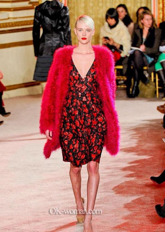 Сoat fur. Сoat fur. Red fur jacket.