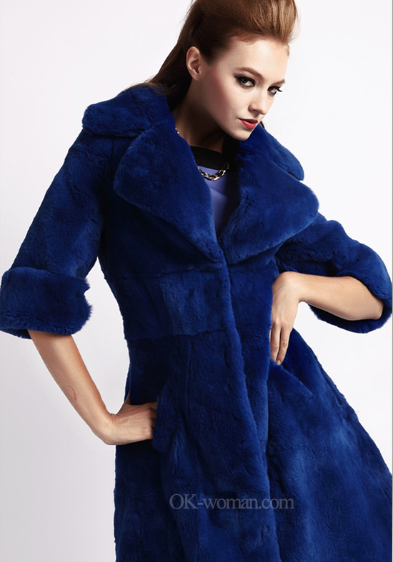 Сoat fur-2012-2013. Blue coat