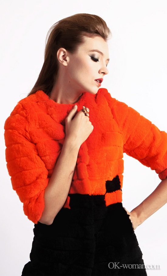 fur 2012-2013 orange coat autumn winter