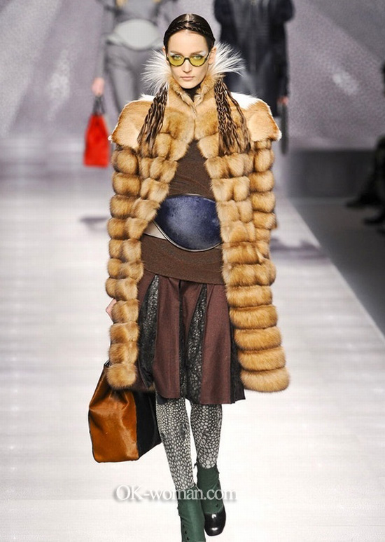 Fur coats 2013 photo. Fendy