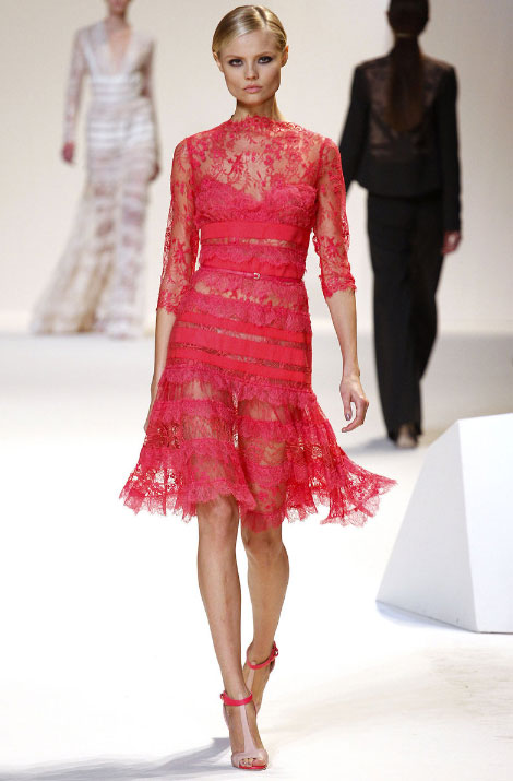 Elie Saab Pret a Porter Spring Summer 2013 red dress