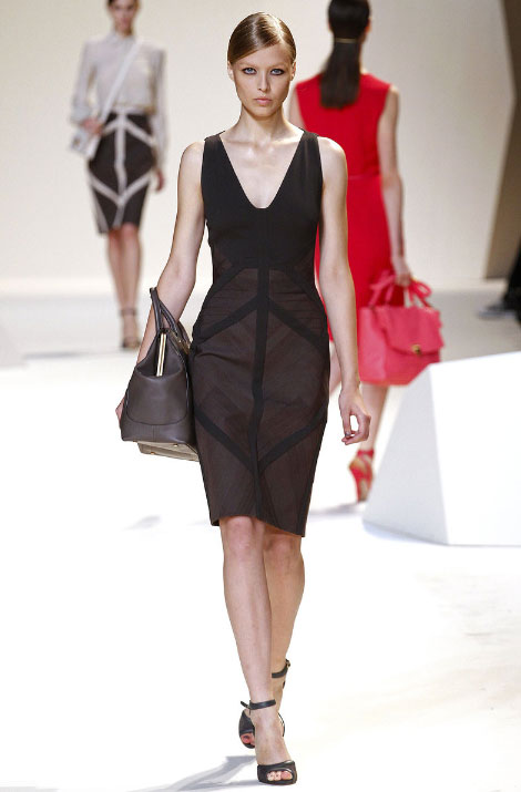 Elie Saab Pret a Porter Spring Summer 2013 Black Dress
