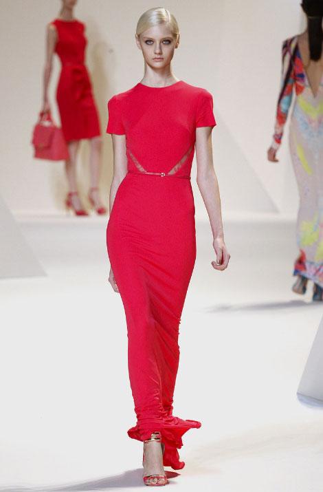 Elie Saab Pret a Porter Spring Summer 2013 Scarlet sexy dress
