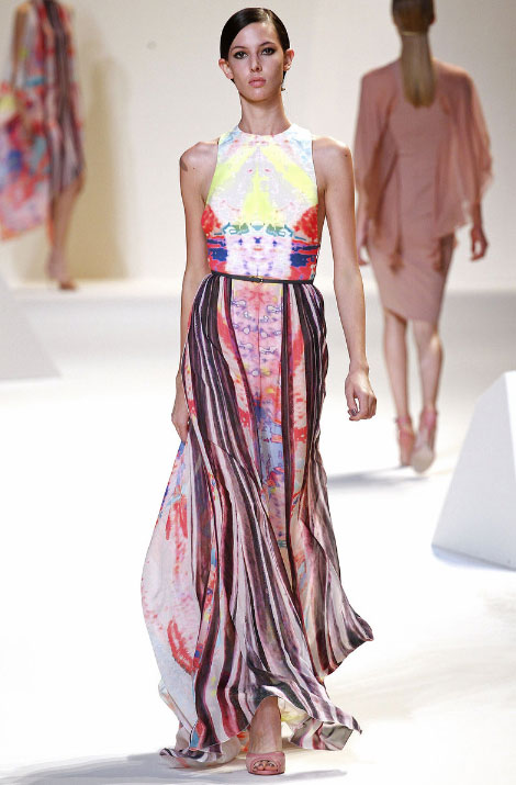 Elie Saab Pret a Porter Spring Summer 2013 Maxi Dress