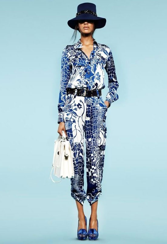 Самые модные тенденции мода весна лето 2013 брюки с принтами орнаментом
