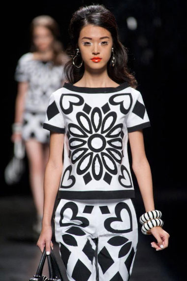 black and white spring summer dresses for women 2013