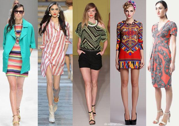 Zig-Zag и графические принты Самые модные тенденции весна-лето 2013