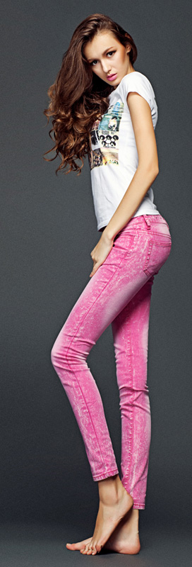 pink jeans Jeans for a girl Girls' Jeans