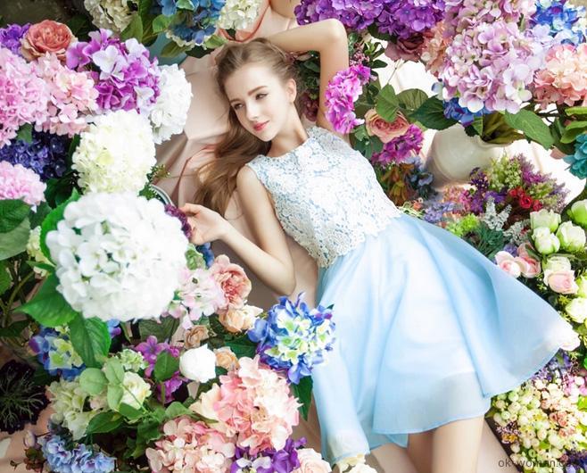 Romantic Blue Summer Dresses