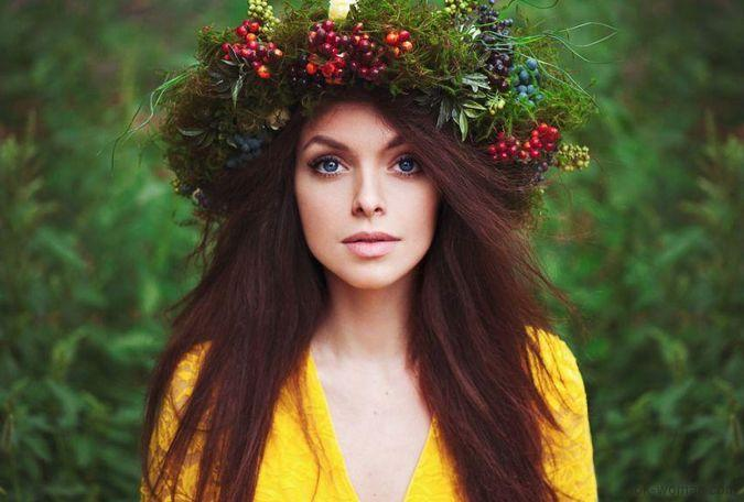 woman forest