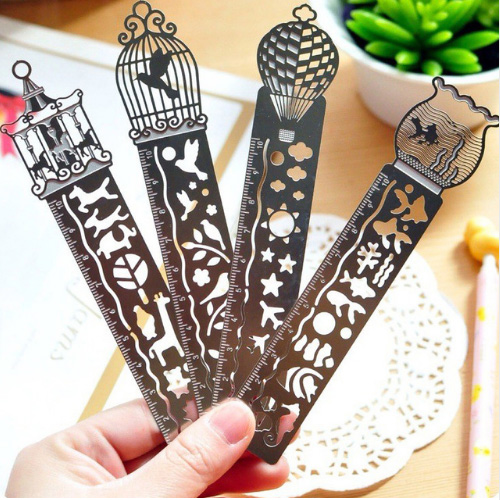 Creative Horse Birdcage Hollow Metal Bookmark Ruler For Kids Student Gift School Supplies Free Shipping