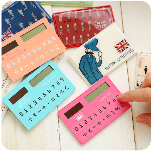 stationery card portable calculator mini handheld ultra-thin calculator free shipping