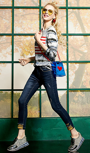 2017 Womens Skinny Stretch Jeans for Juniors