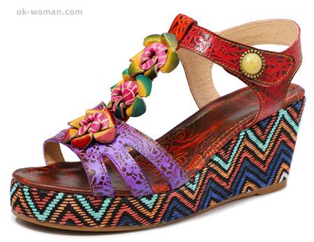 Casual Sandals Vintage Retro Shoes for Women.
